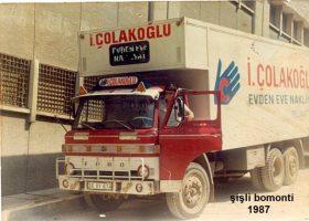 Şişli Bomonti 1987'de Çolakoğlu Nakliyat